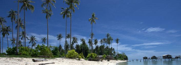 Tropical beach from Malaysian Borneo