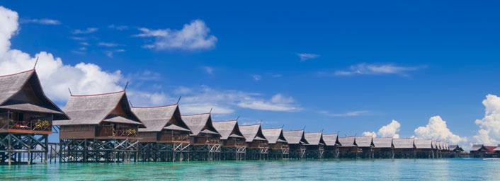 Tropical island resort, Malaysia