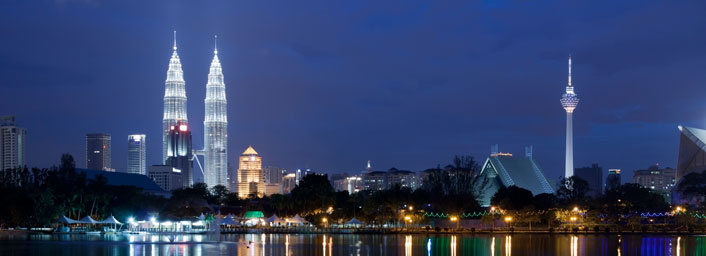 Iconic Petronas Twin Towers, Kuala Lumpur